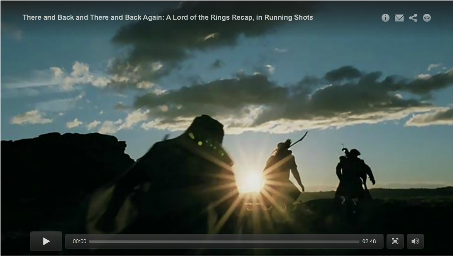 There and Back and There and Back Again: A Lord of the Rings Recap, in Running Shots