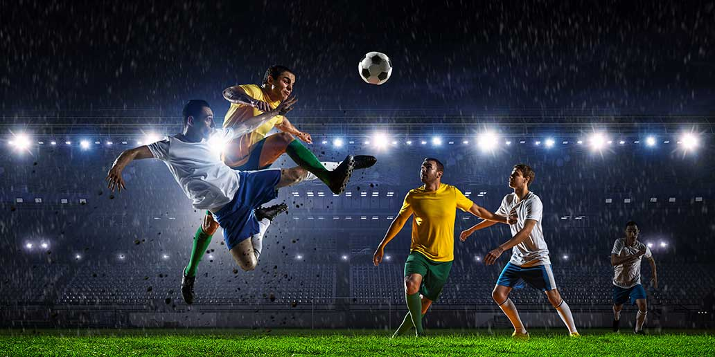 looking at the ground while running--soccer players do it well!