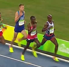 Galen Rupp on the left, Mo Farah on the right.