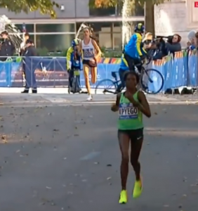 Molly Huddle and Sally Kipyego, NYC marathon 2016