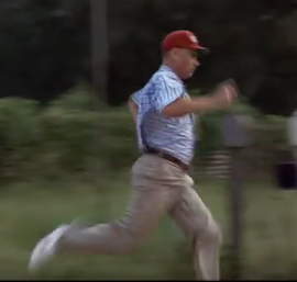Forrest Gump sprinting technique
