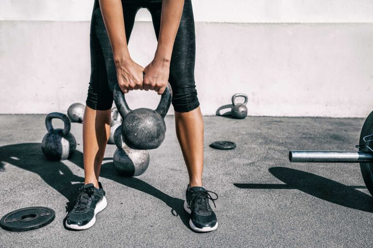 good strength training for runners should include functional, full-body activities such as kettlebells