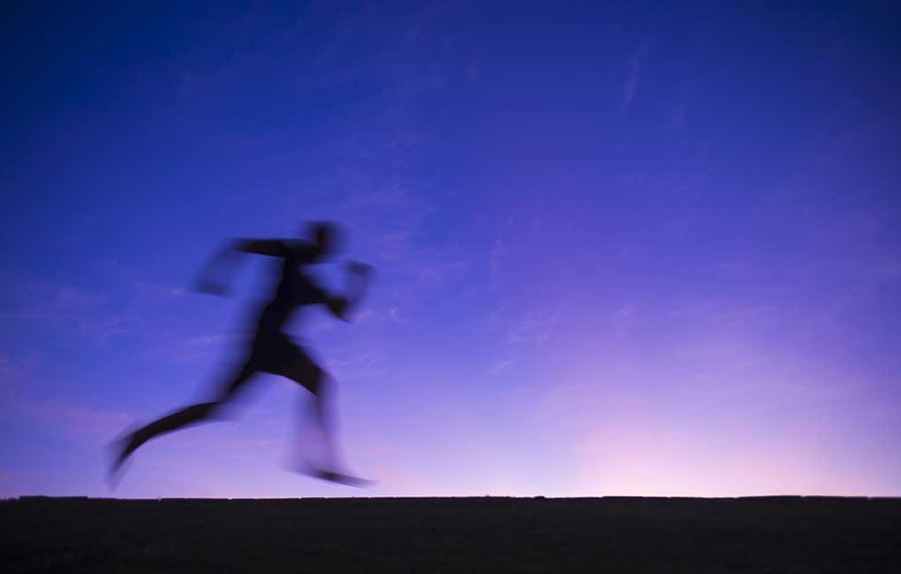 a runner can get an instant boost of speed by using this trick