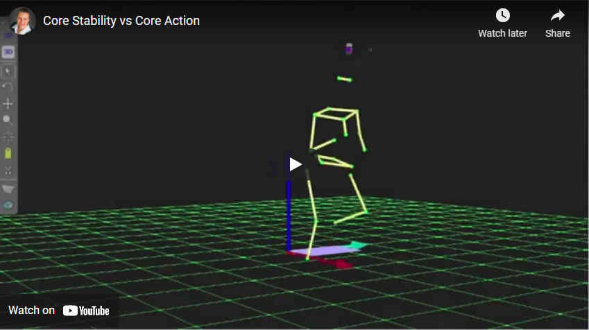 Gait Analysis: Core Stability vs. Core Action